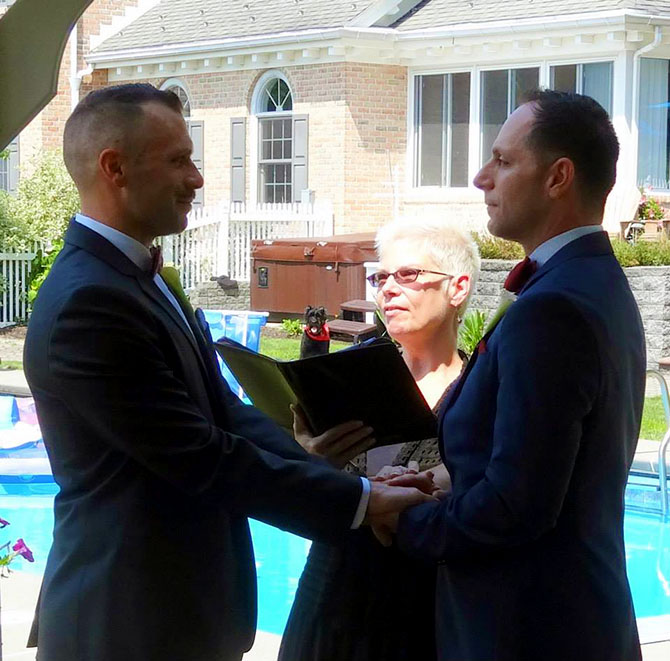 Reverend Pamela Brehm - Gay Wedding Ceremony