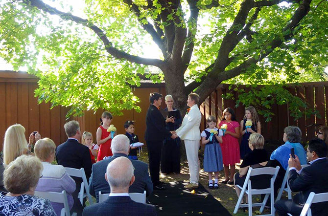 Reverend Pamela Brehm - Outdoor LGBT Wedding Ceremony