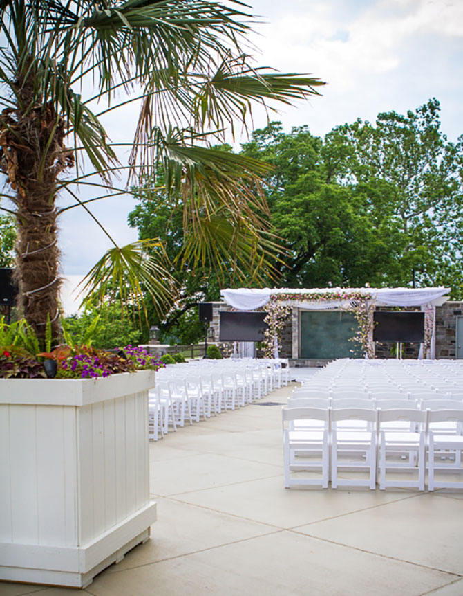 Springfield Country Club - Outdoor wedding ceremony site