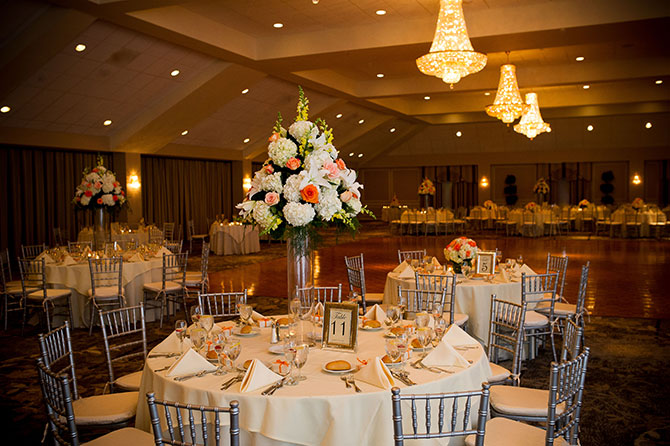 Springfield Country Club - Grand ballroom with crystal chandeliers and dance floor