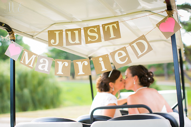 just married LBT Springfield Country Club