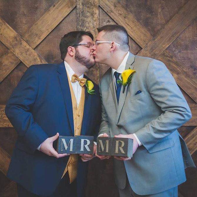 Two Grooms - LGBT Wedding - Inn at Leola Village