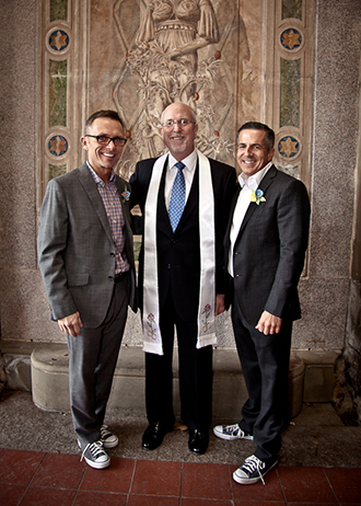 LGBT Couple with Reverend Will Mercer
