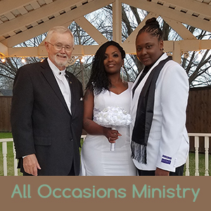 Dallas Fort Worth, Texas Gay and Lesbian Wedding Officiant