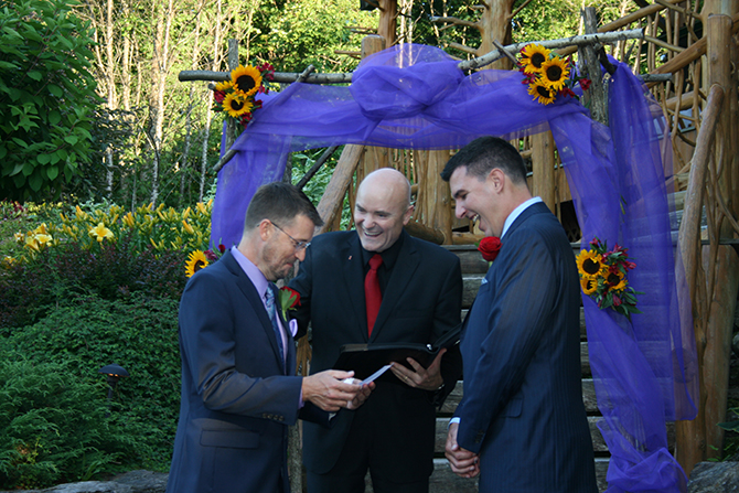 Vermont gay wedding ceremony - Central Vermont LGBT Wedding Officiant - JP Greg Trulson