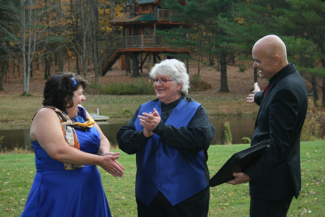 Lesbian marriage ceremony Central Vermont LGBT Wedding Officiant - JP Greg Trulson