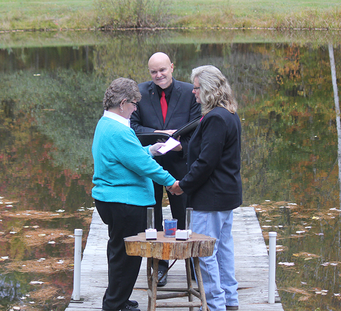 Lakeside Central Vermont LGBT Wedding Officiant - JP Greg Trulson