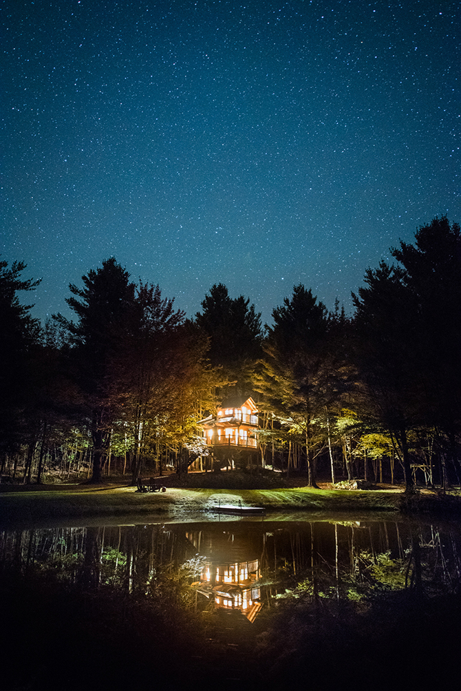 Central Vermont Starry Night Sky at Moose Meadow Lodge