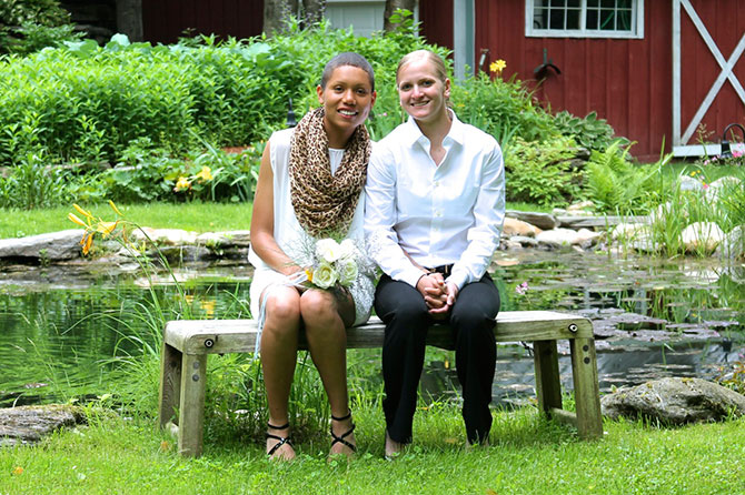 West Hill House B&B lesbian couple in Green Mountain Vermont