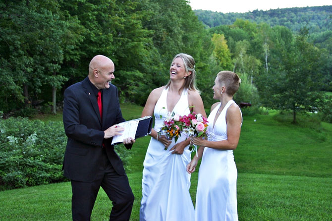 West Hill House B&B lesbian marriage ceremony in the green Mountains, Vermont