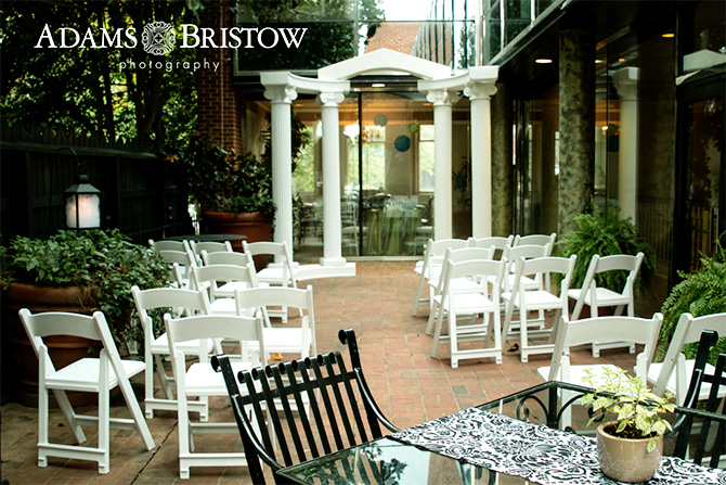 Butler's Unique Catering & Events - Patio and courtyard ceremony site