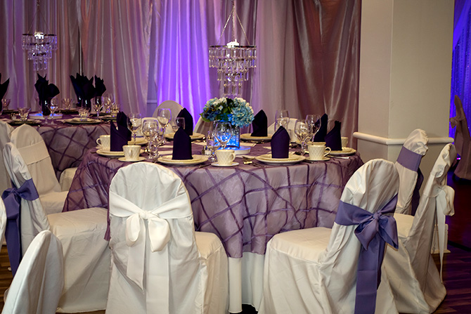 Butler's Unique Catering & Events - Fine linen table setting and chair covers