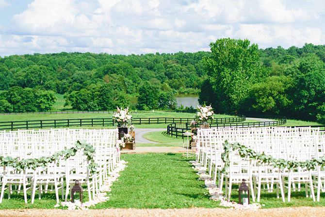 Rixey Manor Northern Virginia Private Wedding Ceremony