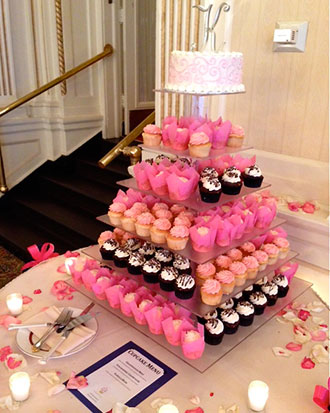 Classy Girl Cupcakes - Square Acrylic Tiered Cupcake Display