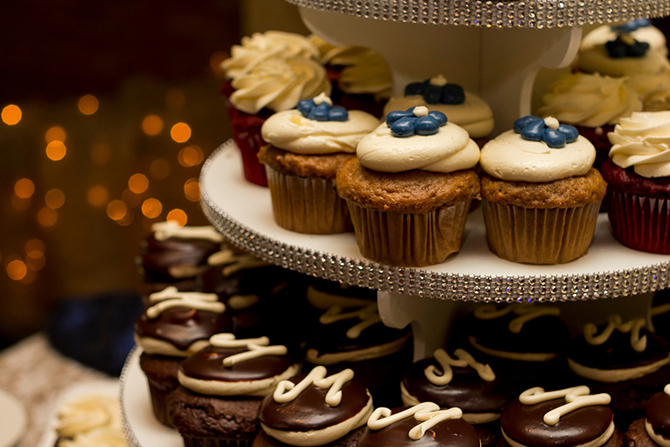 Wedding Cupcake display - Lake Lawn Resort Wisconsin