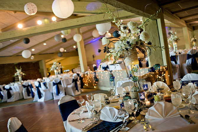 Blue Wedding Reception - Lake Lawn Resort Wisconsin