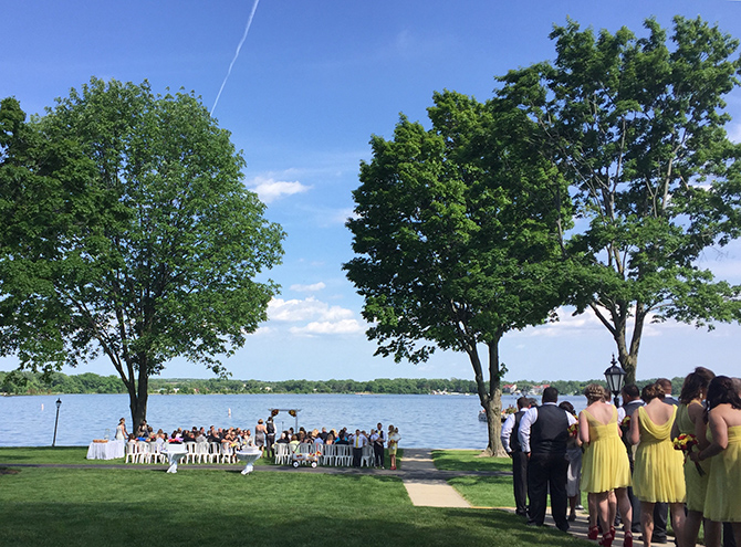 Lakfront Wedding Ceremony - Lake Lawn Resort in Wisconsin