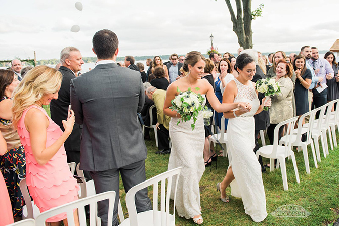 Lesbian marriage ceremony - Lake Lawn Resort Wisconsin