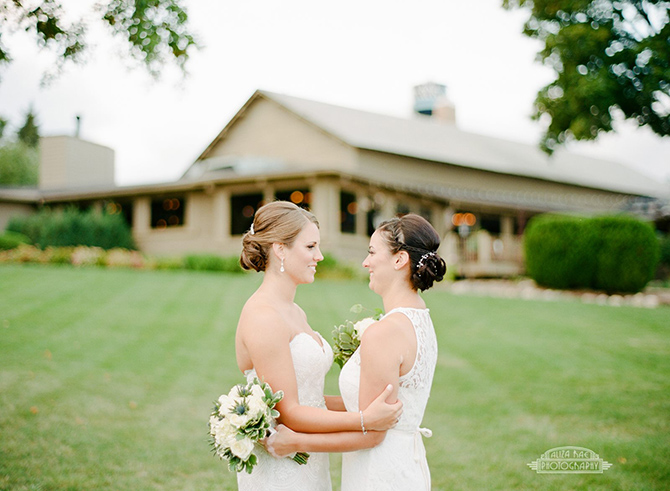Lesbian Wedding Ceremony - Lake Lawn Resort in Wisconsin