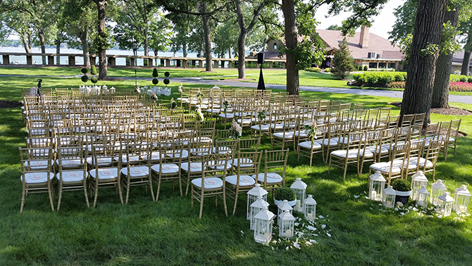Outdoor Wedding Ceremony - Lake Lawn Resort in Wisconsin