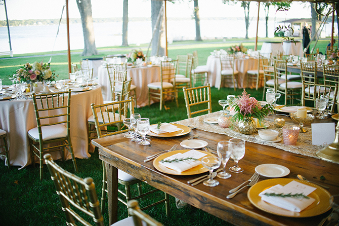 Outdoor clear tented wedding reception - Lake Lawn Resort in Wisconsin