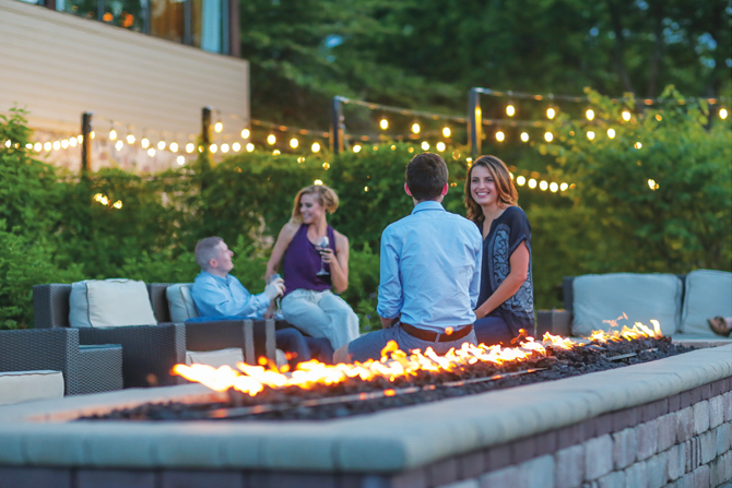 The Ridge Hotel Outdoor Fire Feature in Lake Geneva Wisconsin