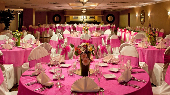 DoubleTree by Hilton Pittsburgh Meadow Lands - pink reception hall