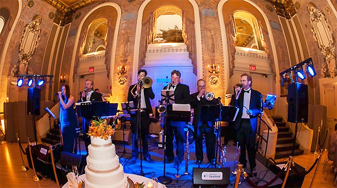 Groove Place Havertown PA LGBT Wedding Dance Band Playing On Stage
