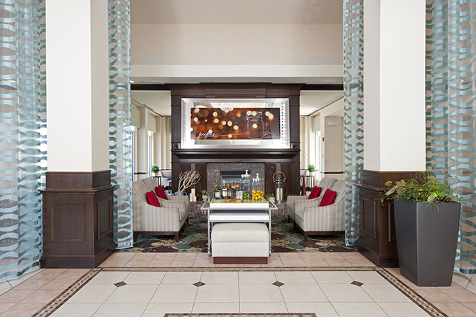 Hotel Lobby   Hilton Garden Inn LGBT Wedding Hotel Ames Iowa