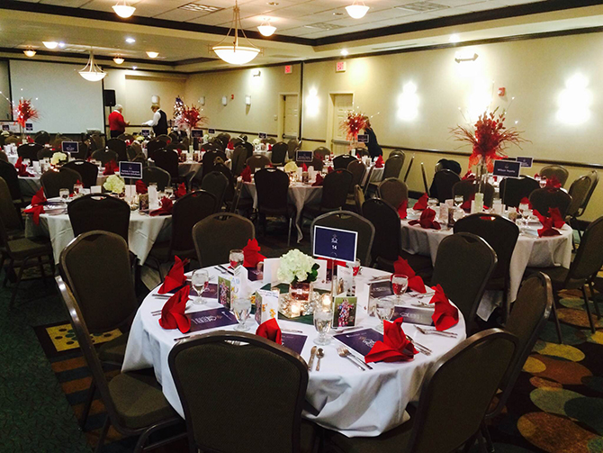 Superior Wedding Reception In Flame Red   Hilton Garden Inn LGBT Wedding Hotel Ames  Iowa Great Pictures