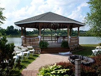 Jeffersonville in gay and lesbian wedding venue banquet and lakeside reflections banquet catering facility gazebo on the junglespirit Choice Image
