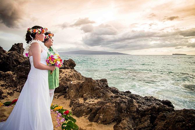 Maui Aloha Weddings Kihei Hawaii Lesbian Couple Wedding Day