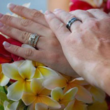 Trinity Hawaiian Weddings - Wedding rings on couples hands