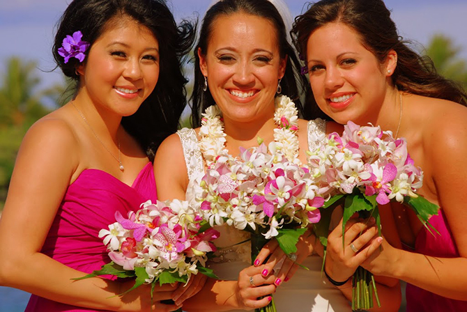 Trinity Hawaiian Weddings - A Smiling Bridal Party